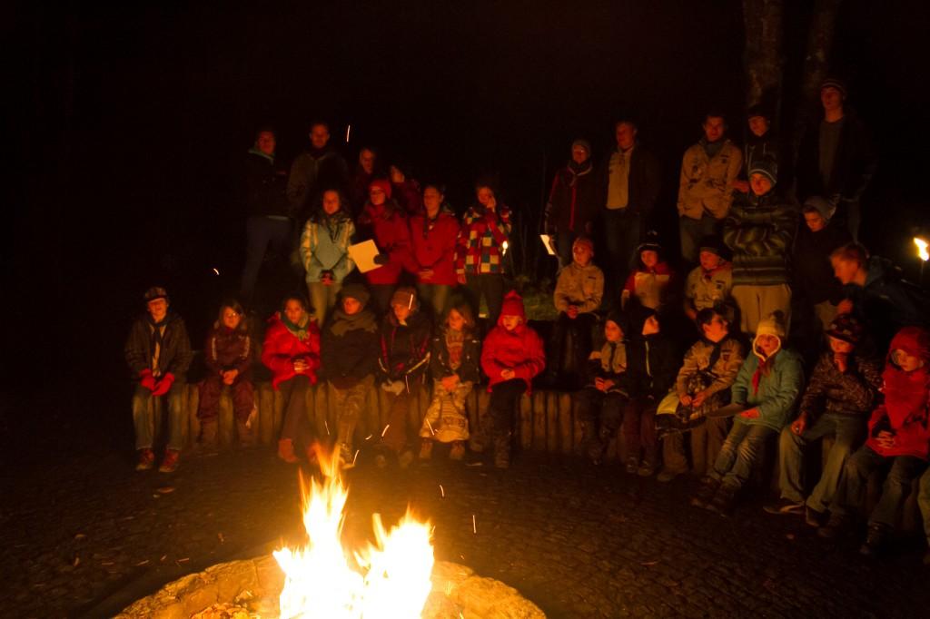 Lagerfeuer am letzten Stammeswochenende